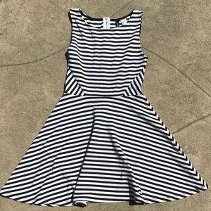 H&M Black and White Striped Skater Dress:)